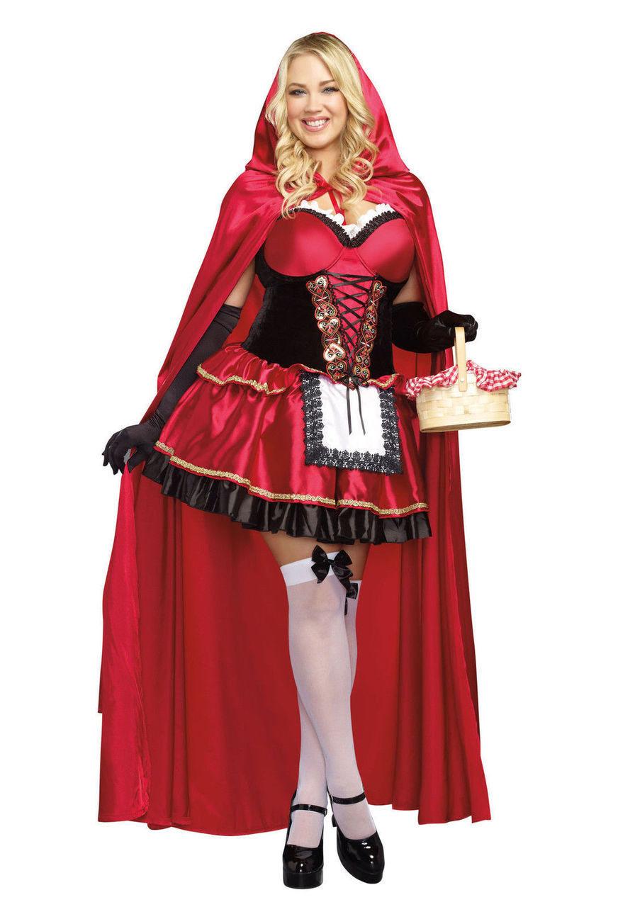 California Costumes Dark Riding Hood Adult Women Halloween Costume 01185