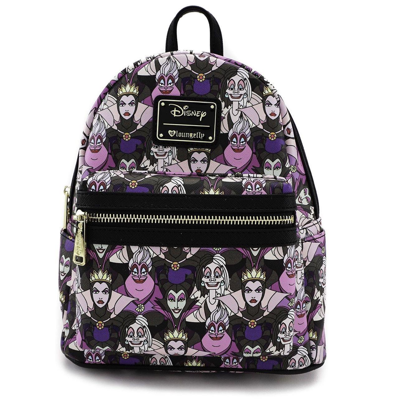 Loungefly Disney Villains Ursula Cruella Maleficent Mini Backpack Wdbk0385