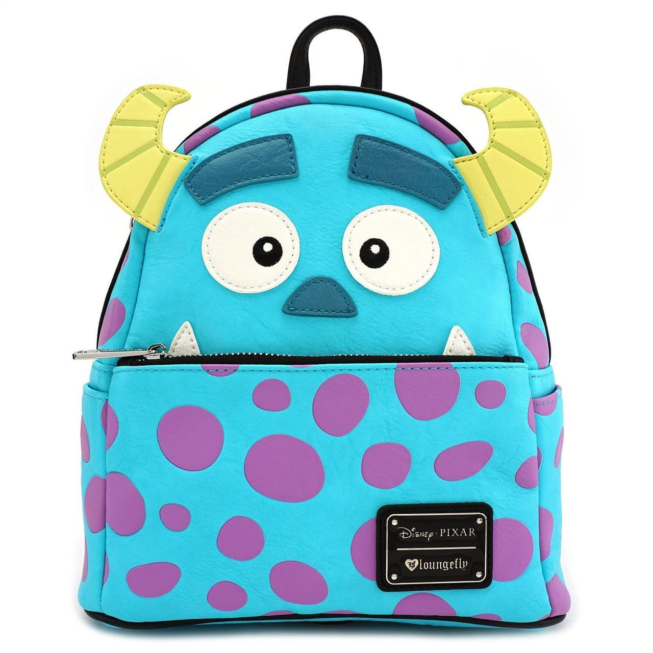 f54fec0f84d3 Loungefly Disney Monsters Inc Sully Face Faux Leather Mini Backpack WDBK0407