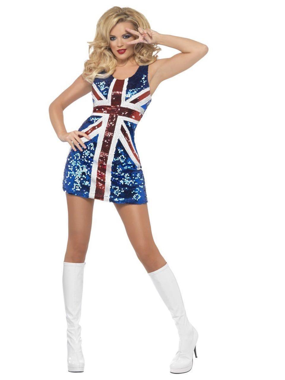 fever all that glitters rule britannia union jack womens halloween