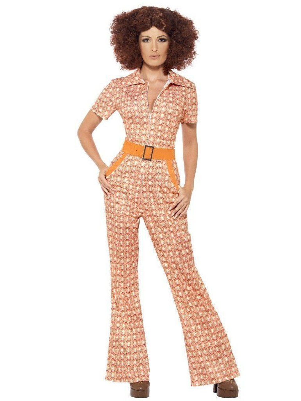 Smiffys 70s Chic Disco Dancer Hippie Adult Womens Halloween Costume