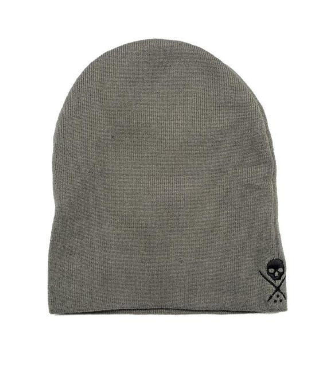 5a37fa63848ee9 Sullen Clothing Standard Issue Knit Winter Beanie Hat Grey Black Skull New  Era