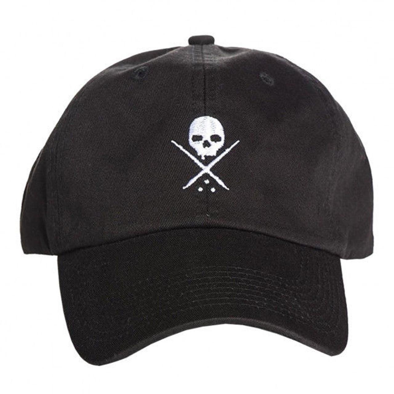 e9718a76592 Sullen Clothing Men s Pop Badge Skull Logo Dad Hat Strapback Embroidered  Cap - Fearless Apparel