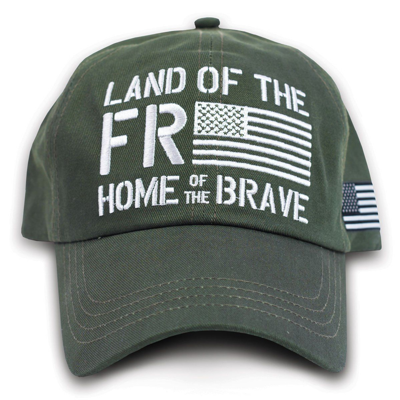 b1a4039878c Buck Wear Land of the Free Home of the Brave Cap Hat American Flag  Adjustable