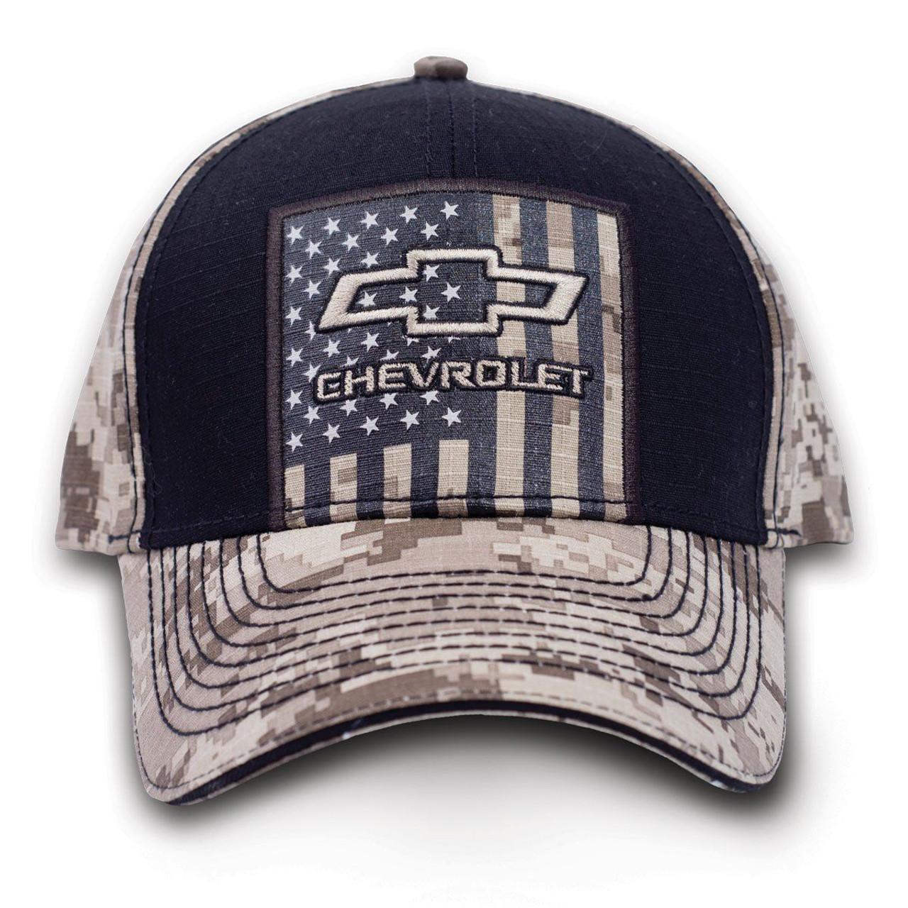 Buck Wear Chevy Tan Digital Camouflage Hat Cap American Flag USA Adjustable  - Fearless Apparel cedc3ad5d0f