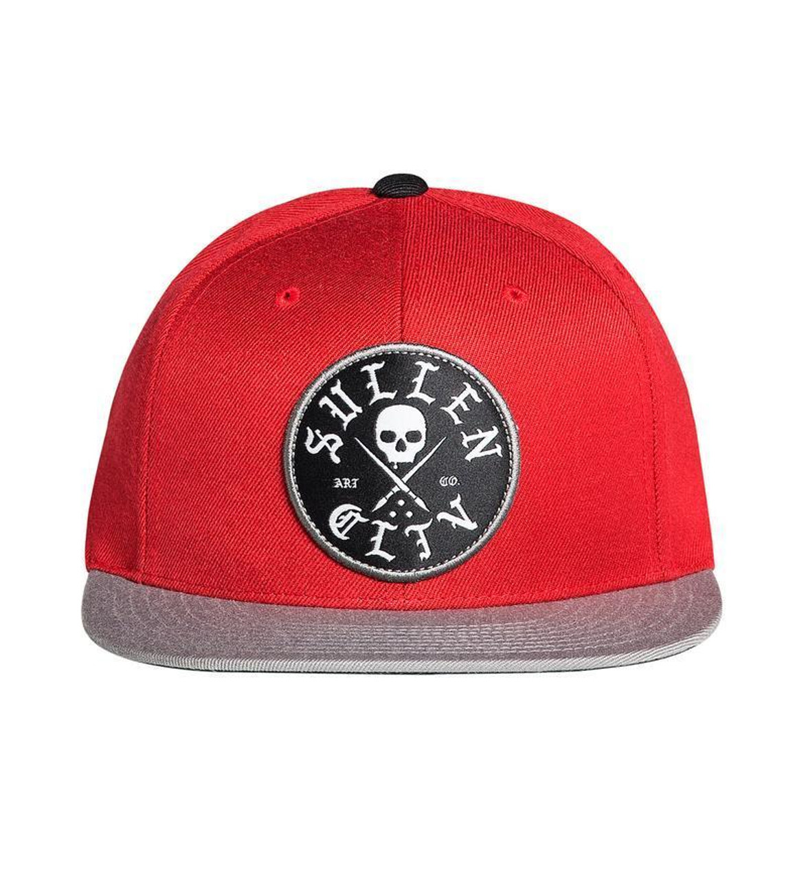 21ed81a1f7bfd Sullen Art Collective Clothing Shader Red Woven Cap Hat Snapback SCA1605 -  Fearless Apparel