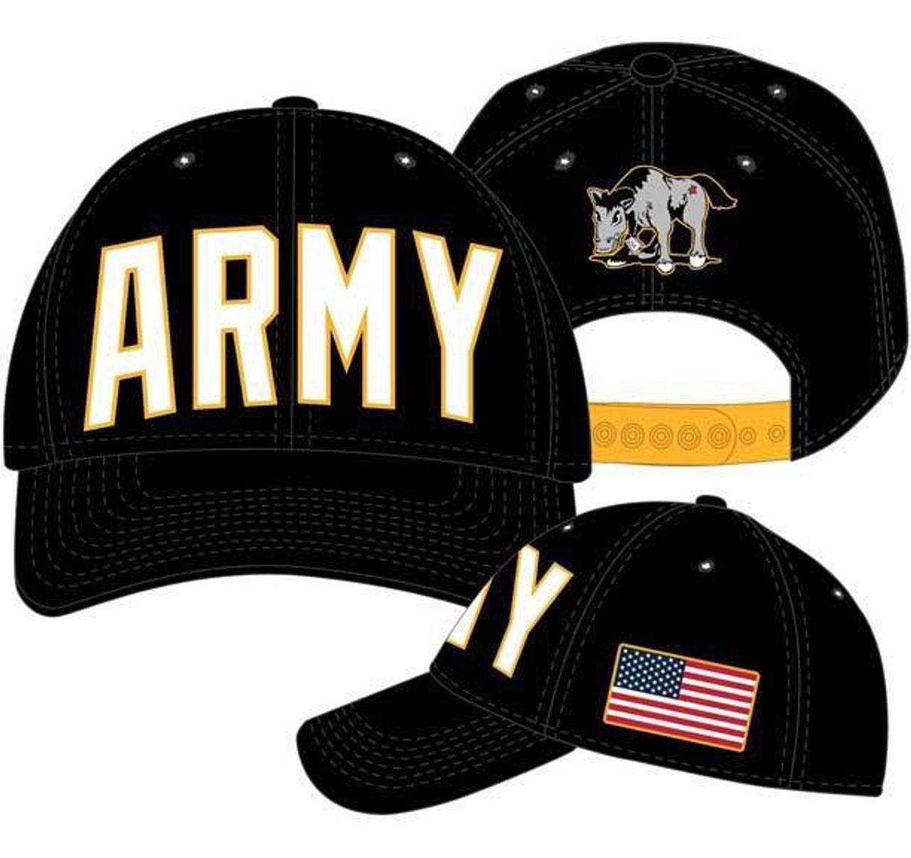 260666b6bab United States USA Army American Flag Adjustable Snapback Cap Hat  BA02292ARMM - Fearless Apparel