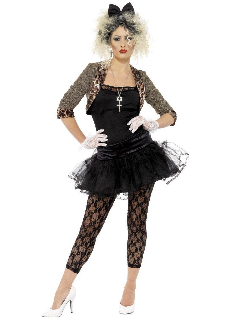 Underwraps Awesome 80/'s Tunic Rocker Dancer Diva Womens Halloween Costume 28738