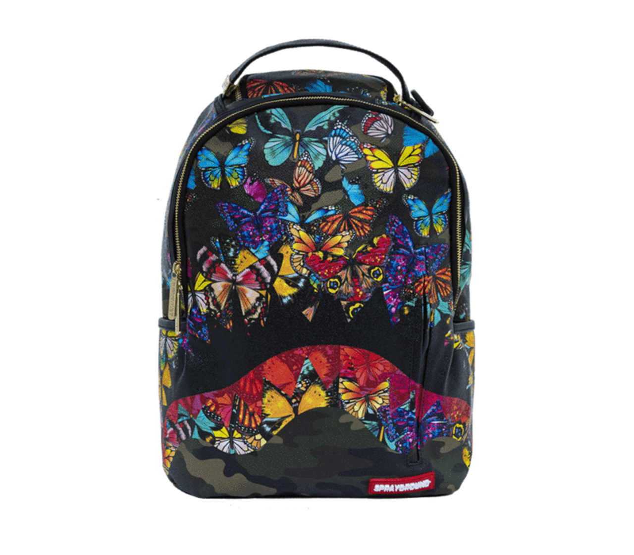 dd57c994c Sprayground Butterfly Camo Shark Mouth Urban School Book Bag Backpack  910M1640