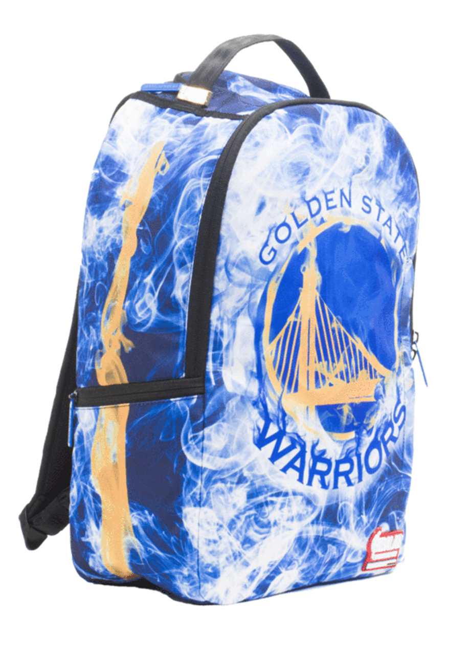 bc2f1bb461c6 Sprayground NBA Lab Golden State Smoke Basketball Book Bag Backpack  910B1874NSZ - Fearless Apparel