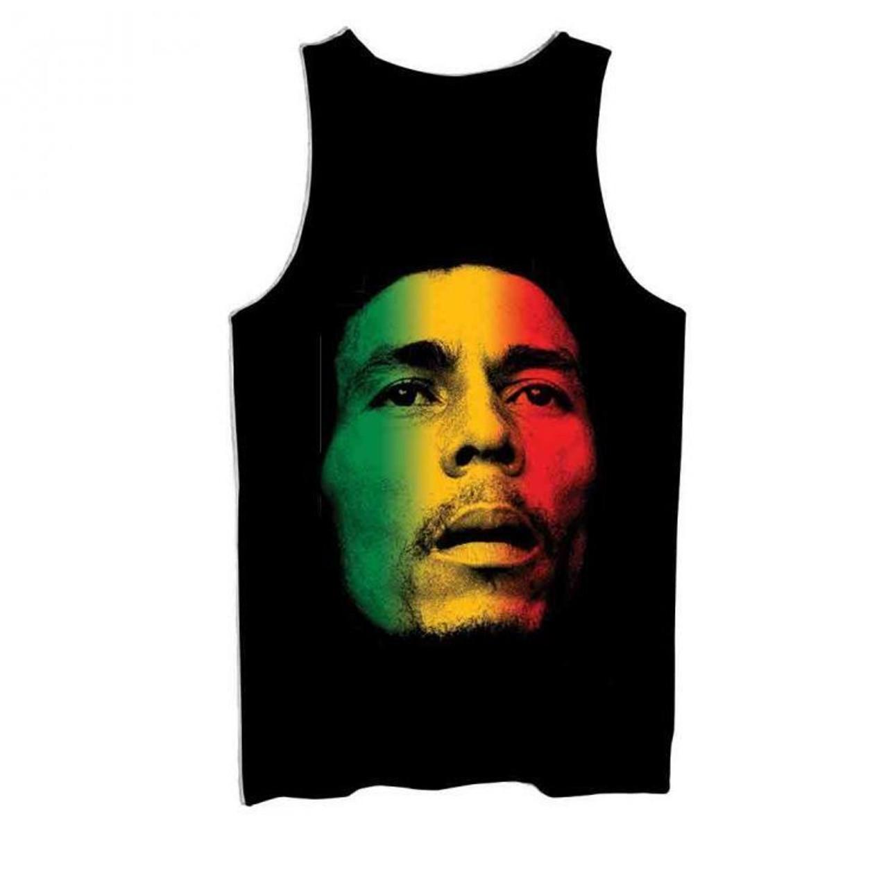 f93841a97f Zion RootsWear Bob Marley Legacy Bars Blk Music Reggae Rasta Mens Tank  ZRBM1116 - Fearless Apparel