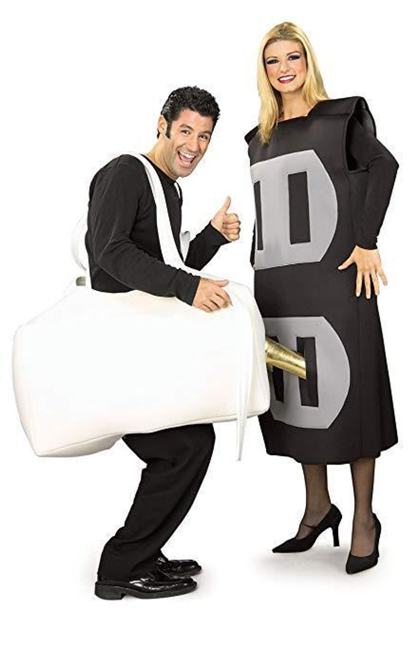 Halloween Costumes For Couples Funny.Rubies Plug Socket Funny Adult Electrical Couples Halloween Costume 16955