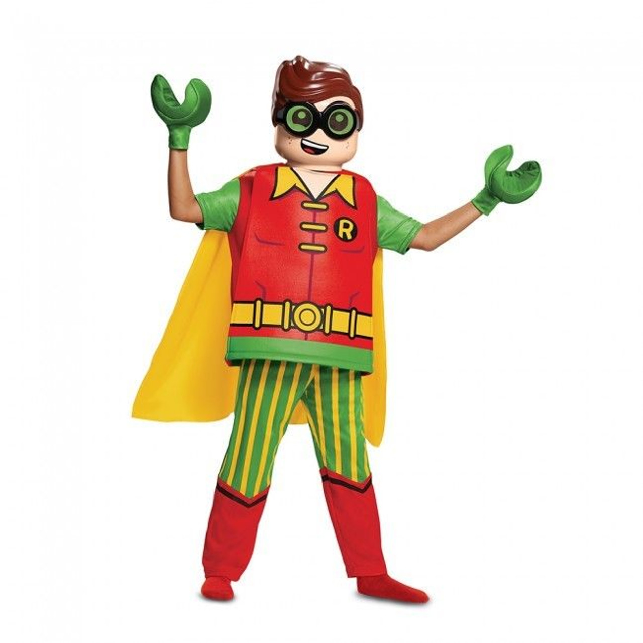 NEW Boys Size Medium 7-8 Boys LEGO Batman Movie Deluxe Child Halloween Costume