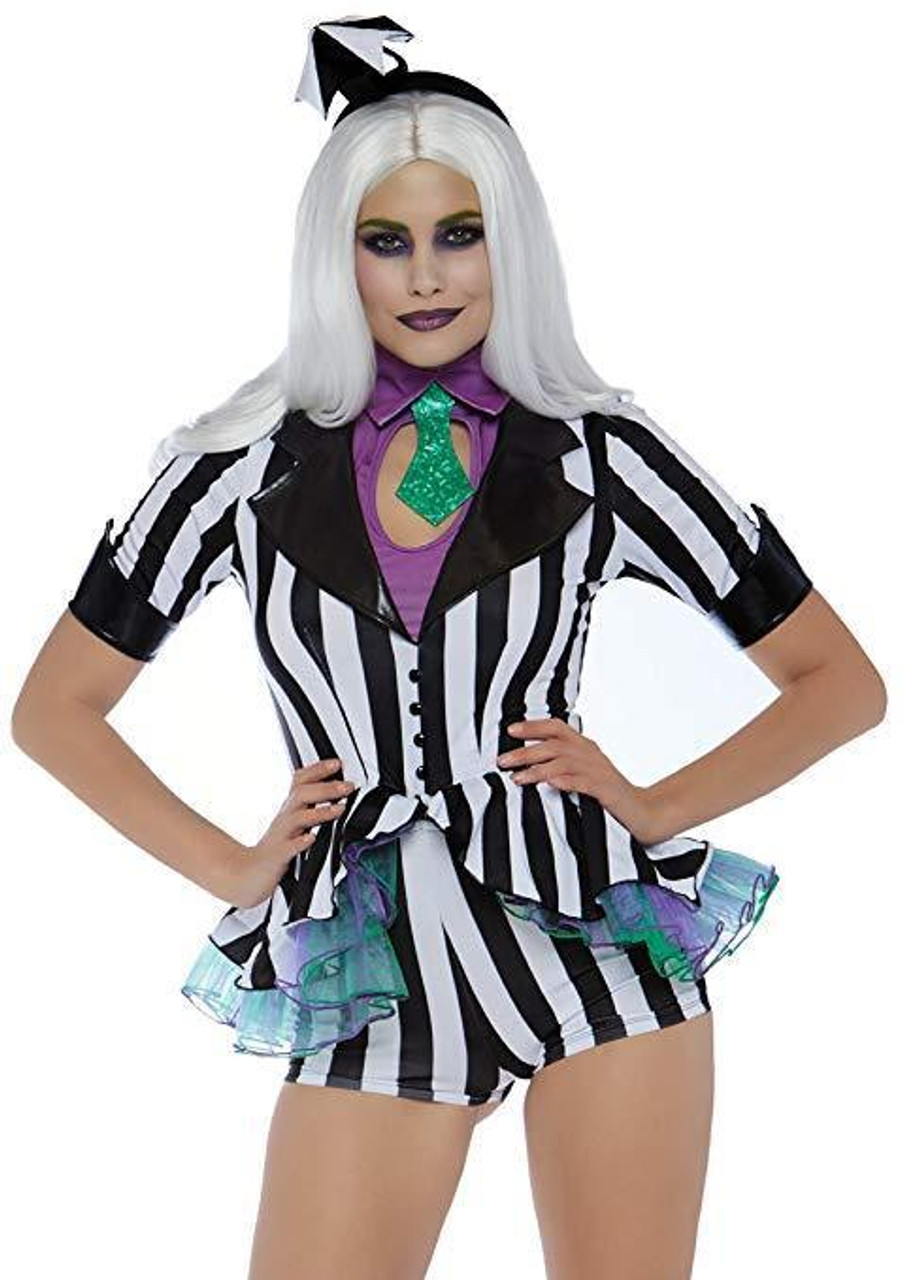 Leg Avenue Beetle Babe Beetlejuice Sexy Adult Womens Halloween Costume 86734 Fearless Apparel