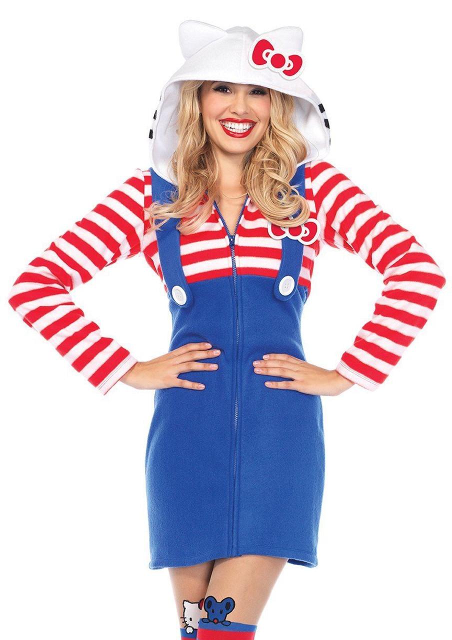 9f6c695304411 Leg Avenue Hello Kitty Cozy Kawaii Dress Adult Womens Halloween Costume  HK86658