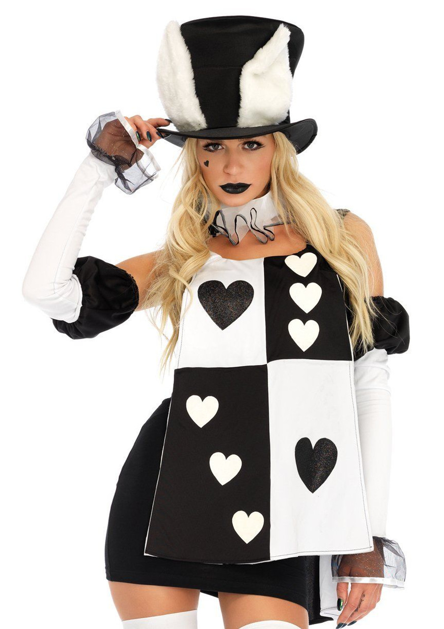 Halloween Costume 38.Leg Avenue Alice In Wonderland White Rabbit Dress Adult Halloween Costume 86714