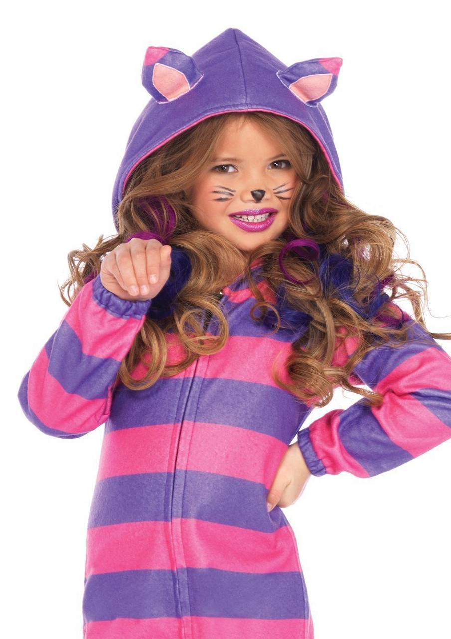 01fcfe4c912 Leg Avenue Cheshire Cat Cozy Dress Girls Kids Childrens Halloween Costume  C49106 - Fearless Apparel