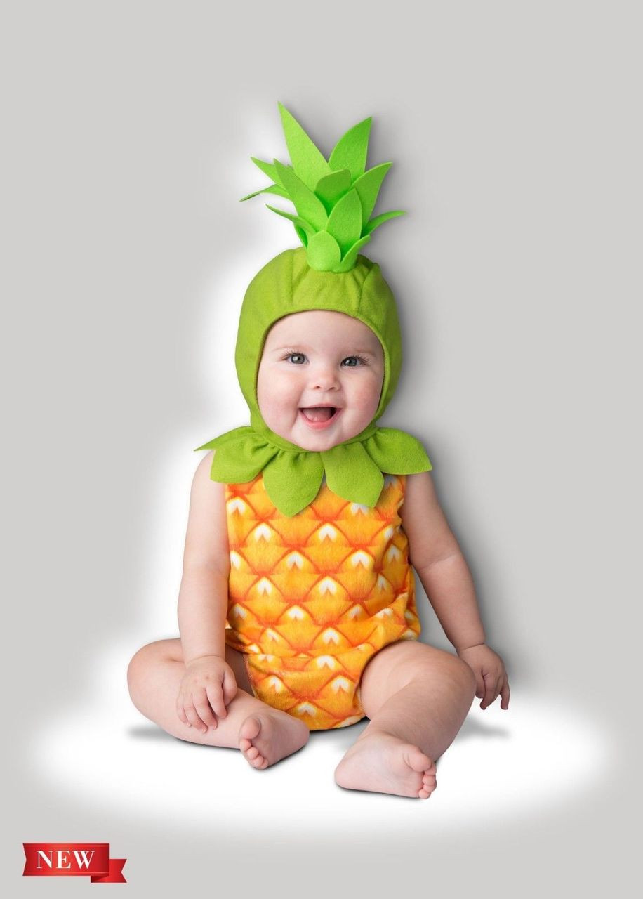 incharacter pineapple fruit tropical infant toddler halloween