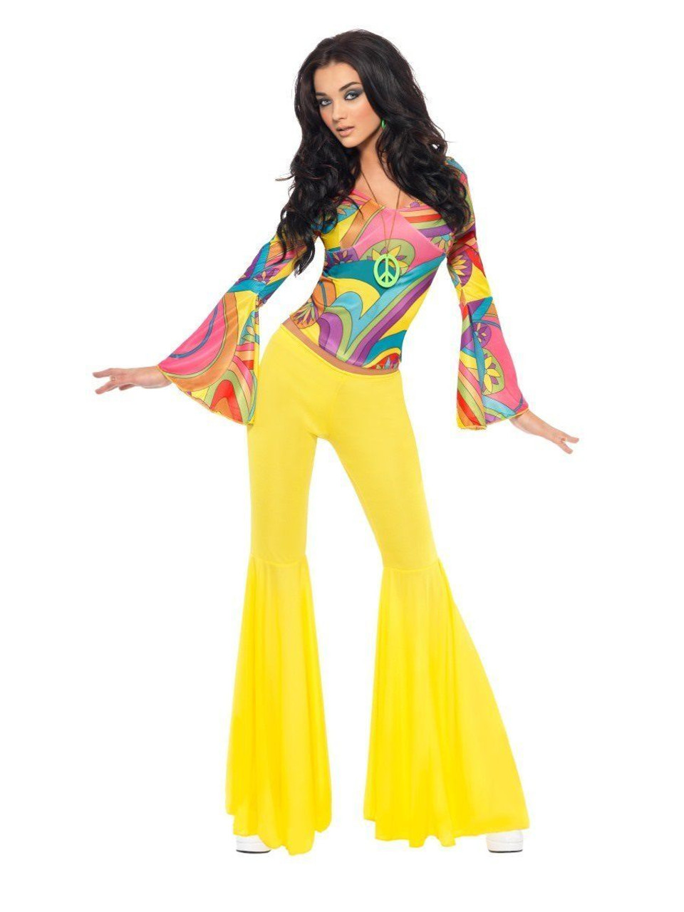 5c1e71a4a0e9 Smiffys Fever 70s Groovy Babe Hippie Adult Womens Halloween Costume 30445 -  Fearless Apparel