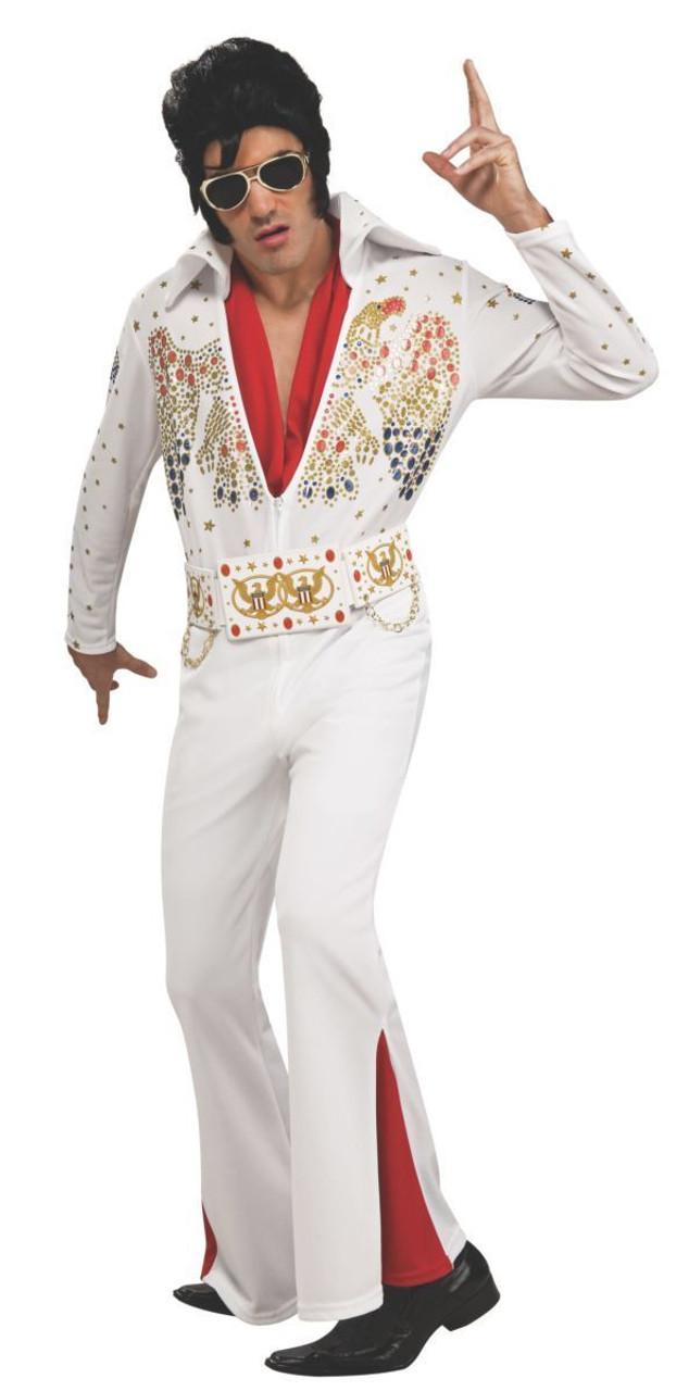 4604542368f0 Rubies Elvis Presley Deluxe Eagle Jumpsuit Adult Mens Halloween Costume  889050