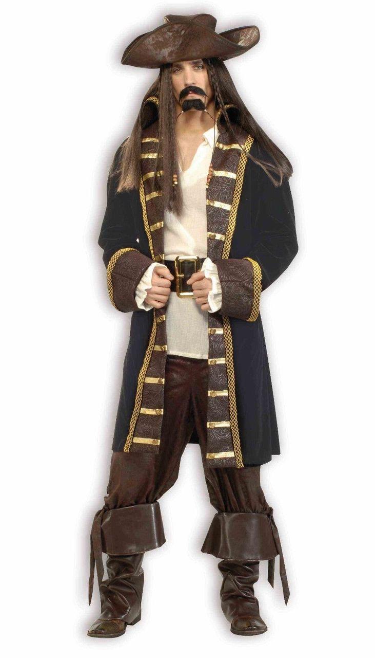 High Seas Pirate Mens Adult Buccaneer Halloween Costume