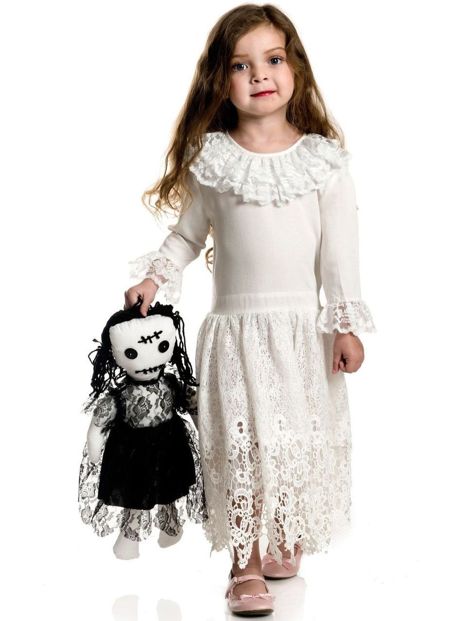 charades little miss voodoo doll gothic dress childrens halloween