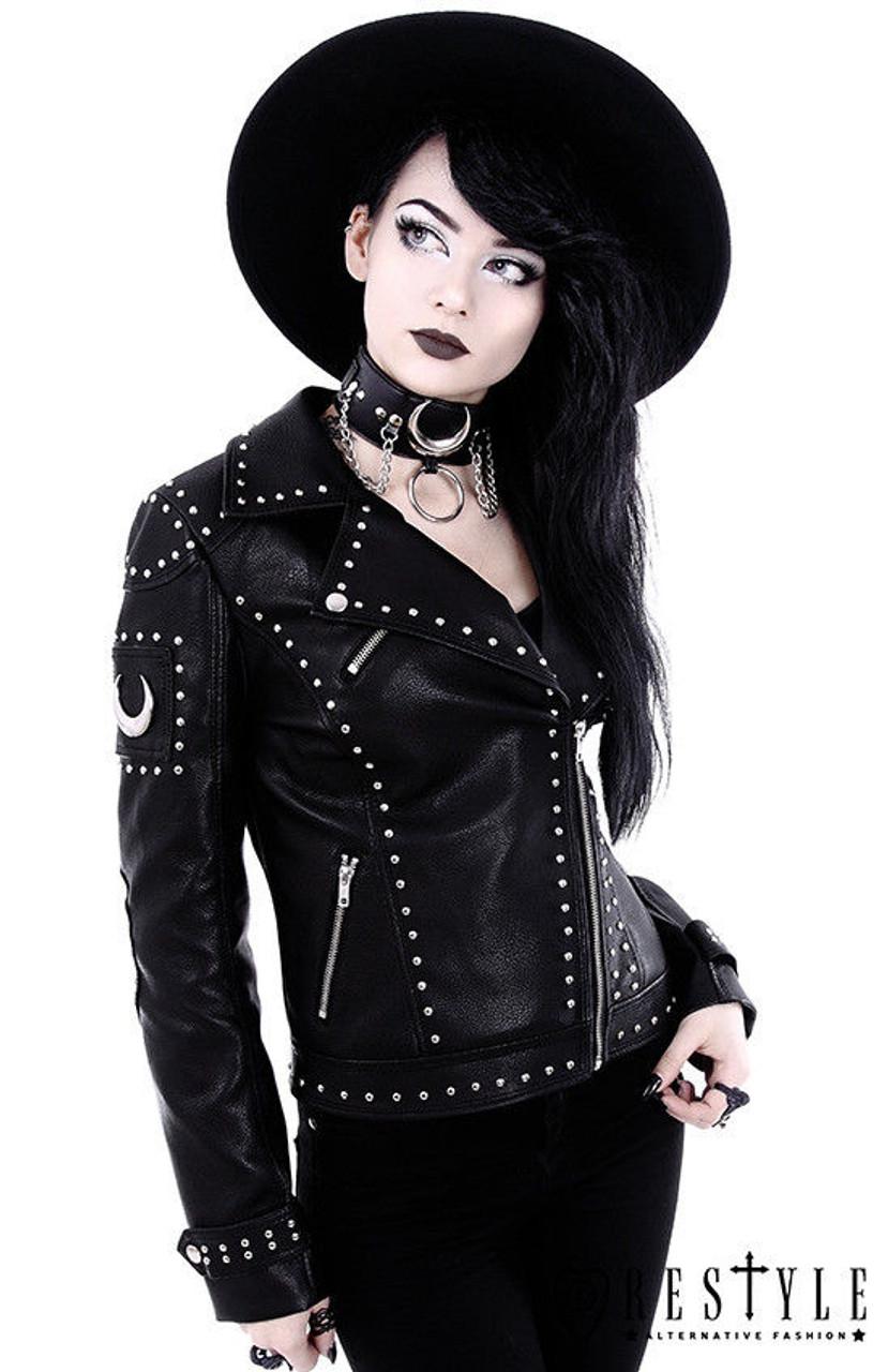 Restyle Iron Moon Biker Black Emo Punk Goth Rock Nugoth Vegan
