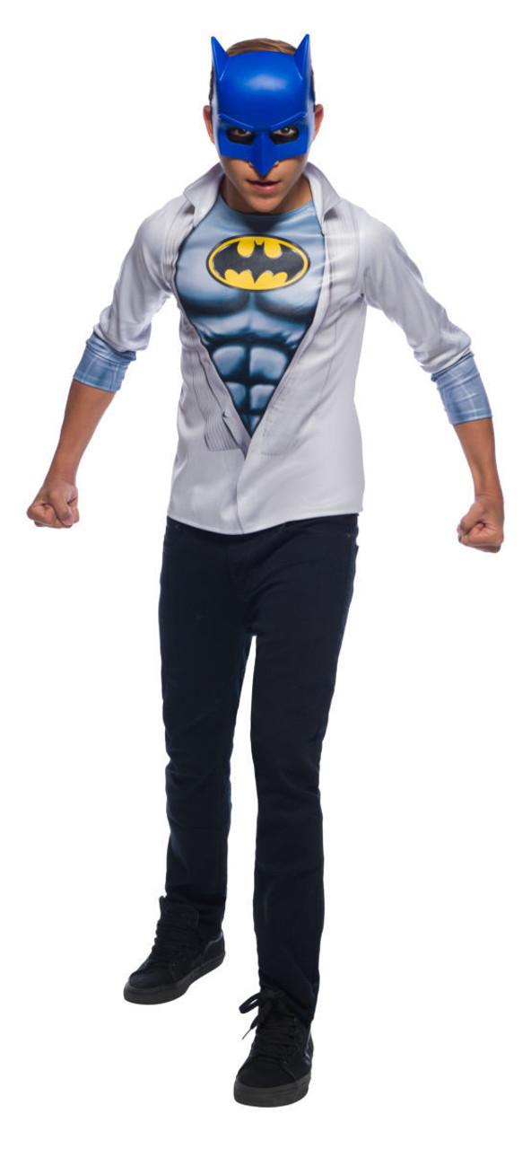 1cd6bccd Rubies DC Comics Batman Photoreal Shirt Mask Kids Child Halloween Costume  641263