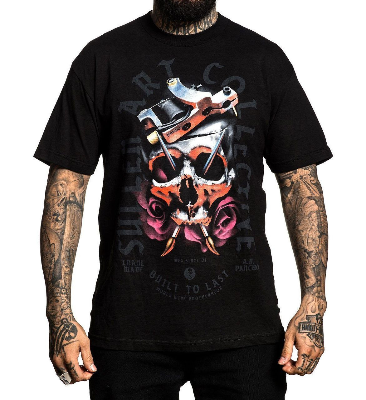 Sullen Art Collective Clothing Pancho Skull Roses Urban Tattooed T ...