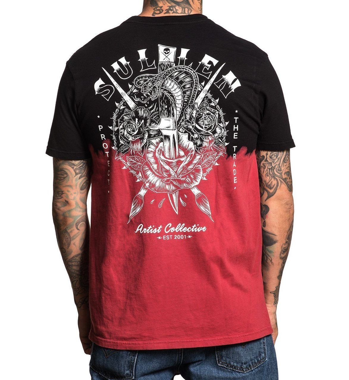 Sullen Art Collective Clothing Cobra Snake Blood Roses Tattooed T ...