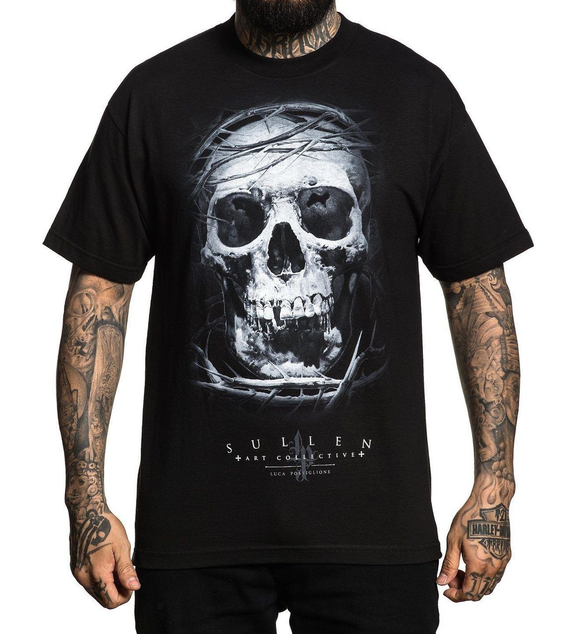 705c1ccd92f5 Sullen Art Collective Clothing Luca Skull Urban Goth Tattooed T Shirt  SCM2102