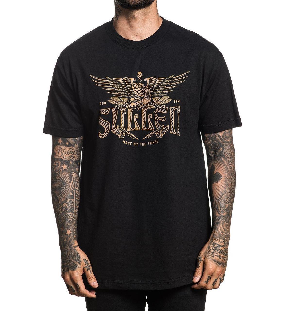 a534cd1011e7 Sullen Art Collective Traditional Tattoos Gun Eagle Urban Inked T Shirt  SCM1967
