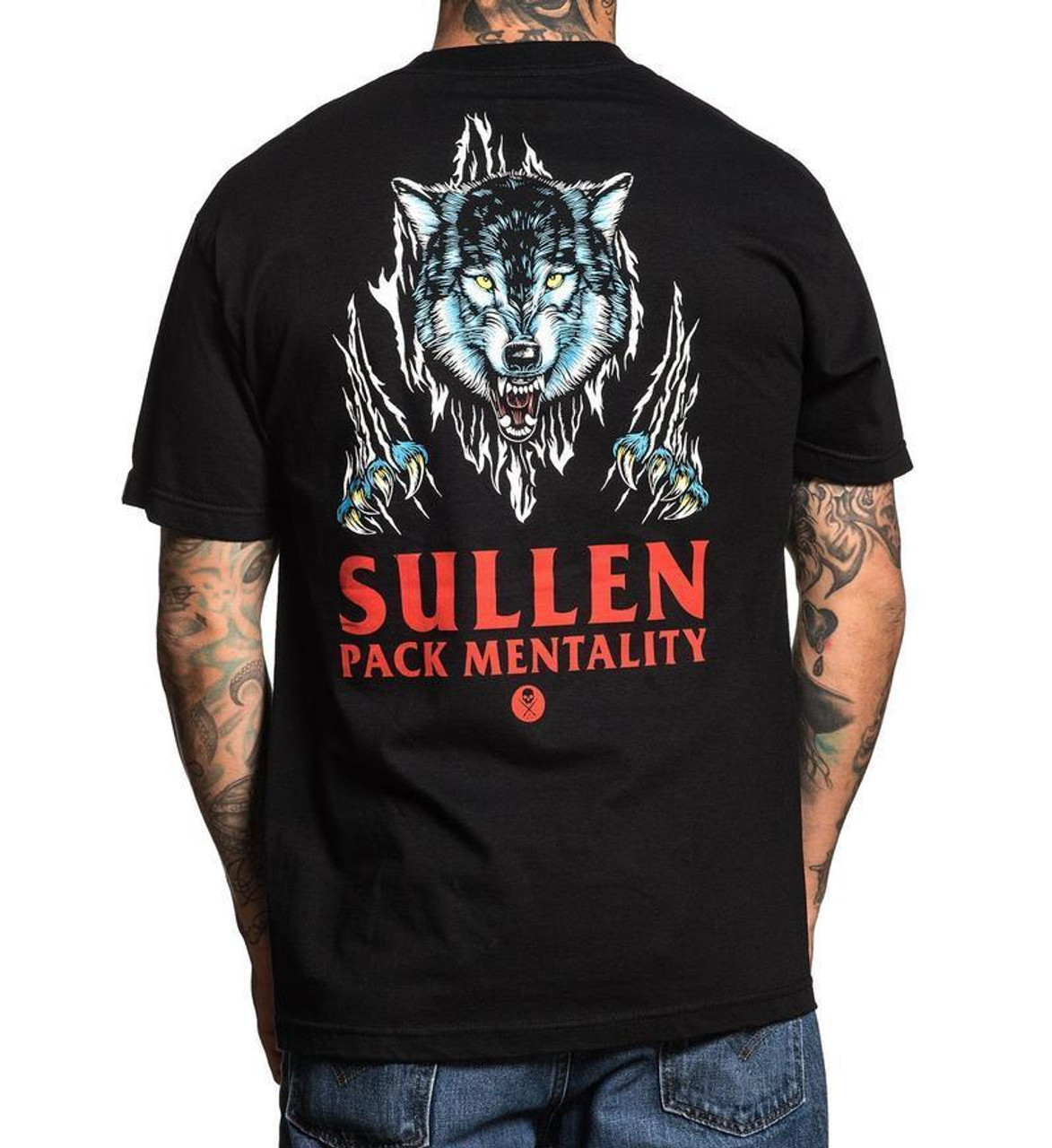Sullen Clothing Garr Wolf Pack Mentality Tattoo Adult Mens T Tee ...