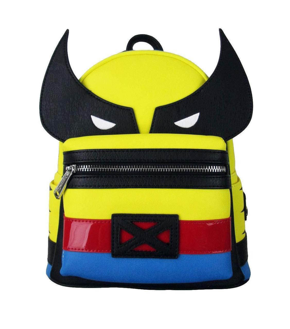 191038f69c24 Loungefly Marvel Comics Wolverine X-Men Mini Faux Leather Bag Backpack  MVBK0051 - Fearless Apparel