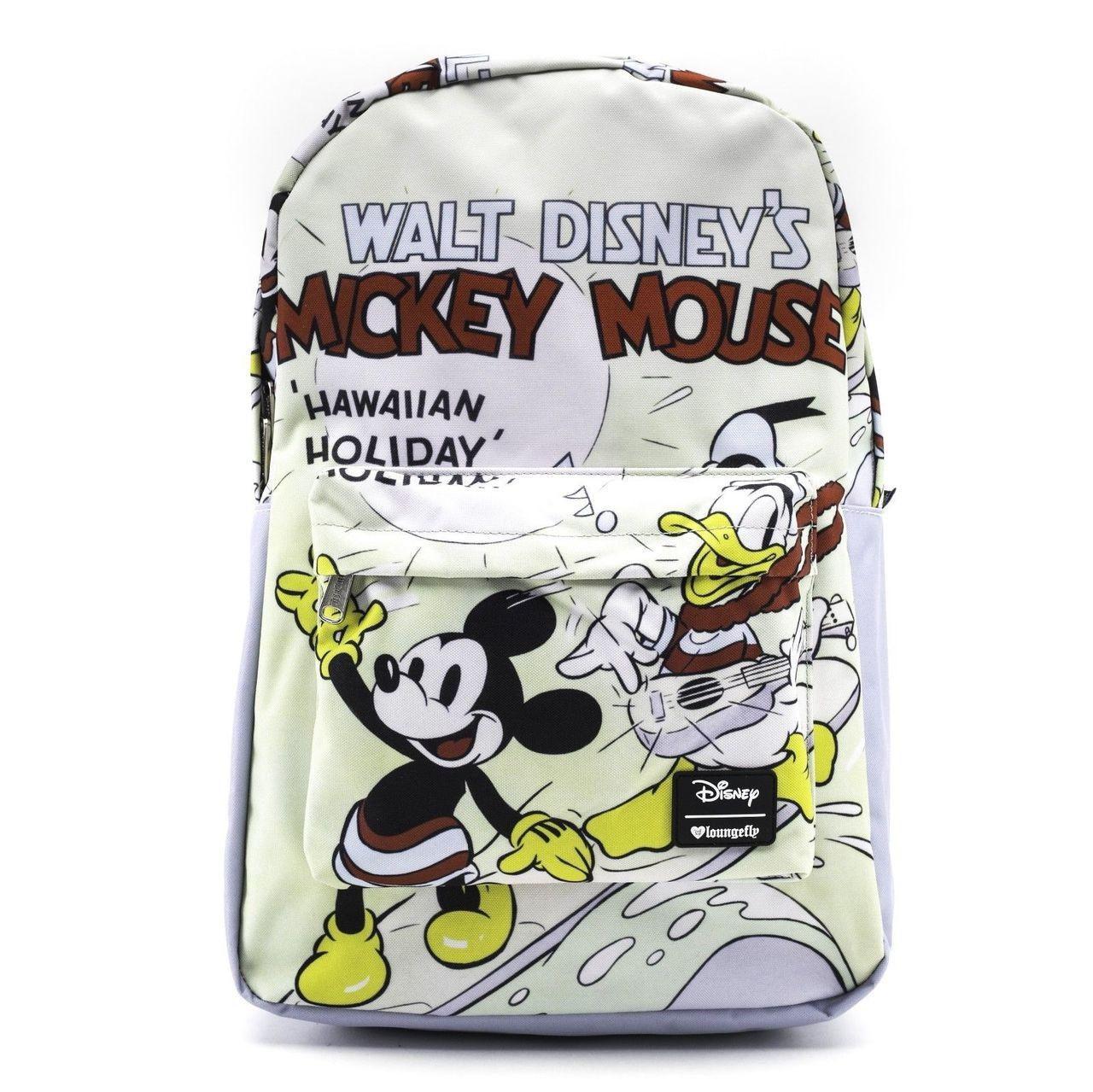 0d83612bf6e Loungefly Disney Mickey Mouse Donald Duck Hawaiian Holiday Backpack WDBK0498