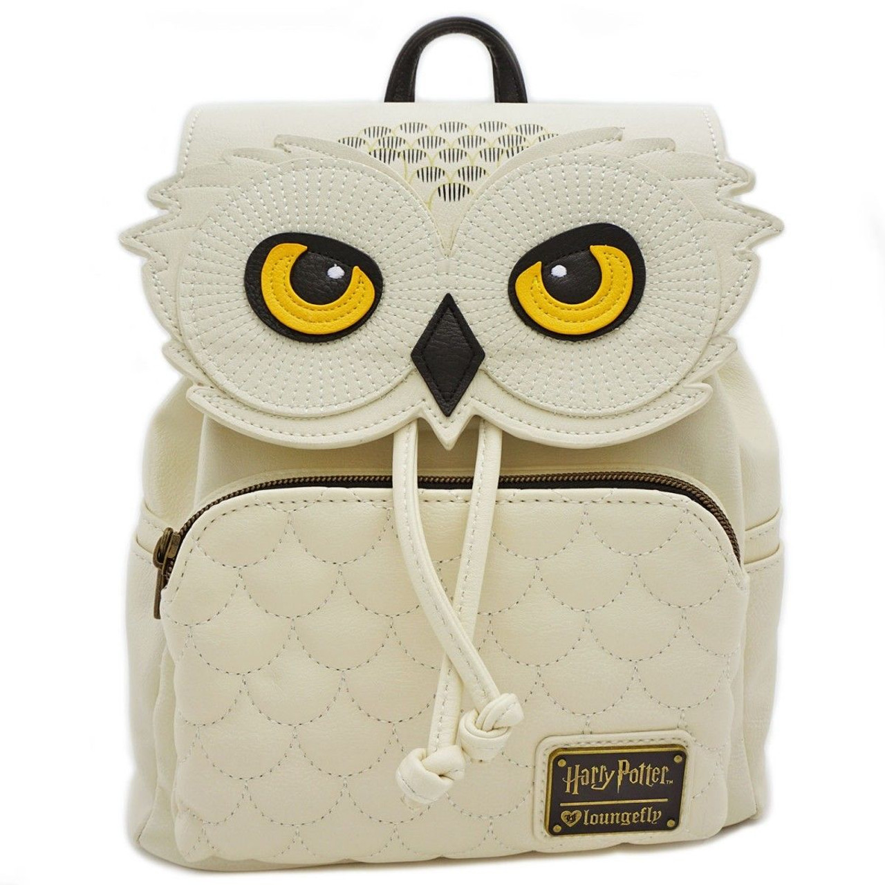 7c39e54feb5 Loungefly Harry Potter Hedwig Snow Owl Mini Faux Leather Bag Backpack  HPBK0005 - Fearless Apparel
