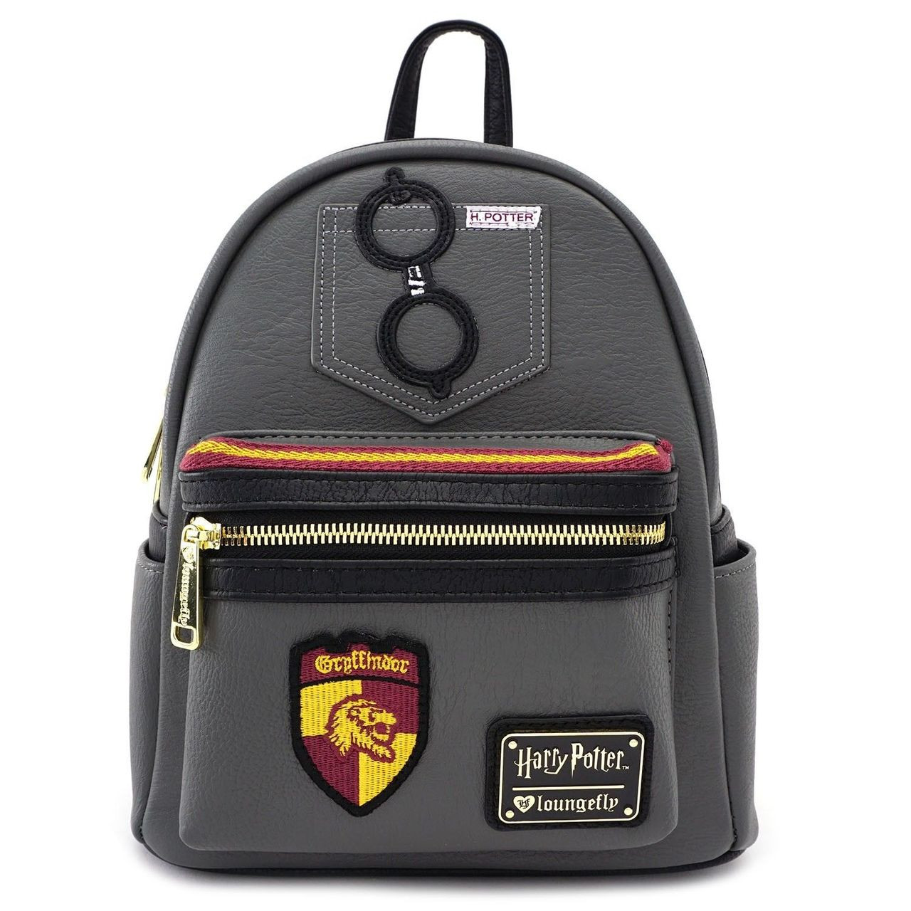 7c453e61f4f Loungefly Harry Potter Gryffindor Shield Faux Leather Mini Bag Backpack  HPBK0006 - Fearless Apparel