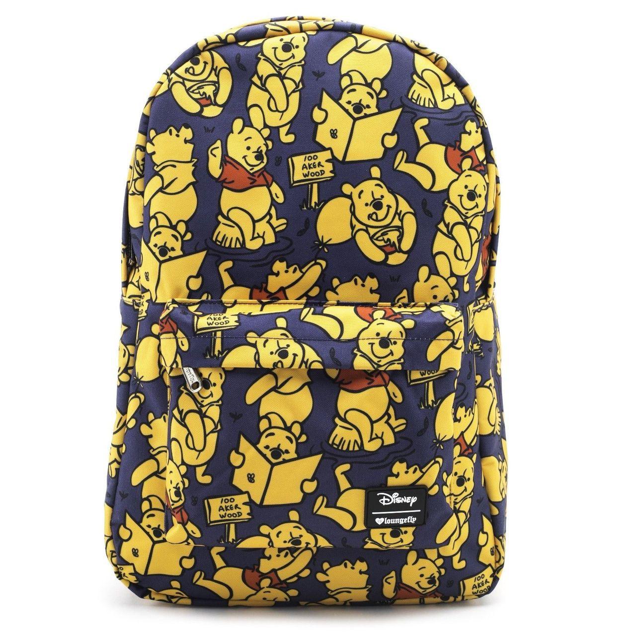 9686cb875 Loungefly Disney Winnie the Pooh Bear Print School Book Bag Backpack  WDBK0507 - Fearless Apparel