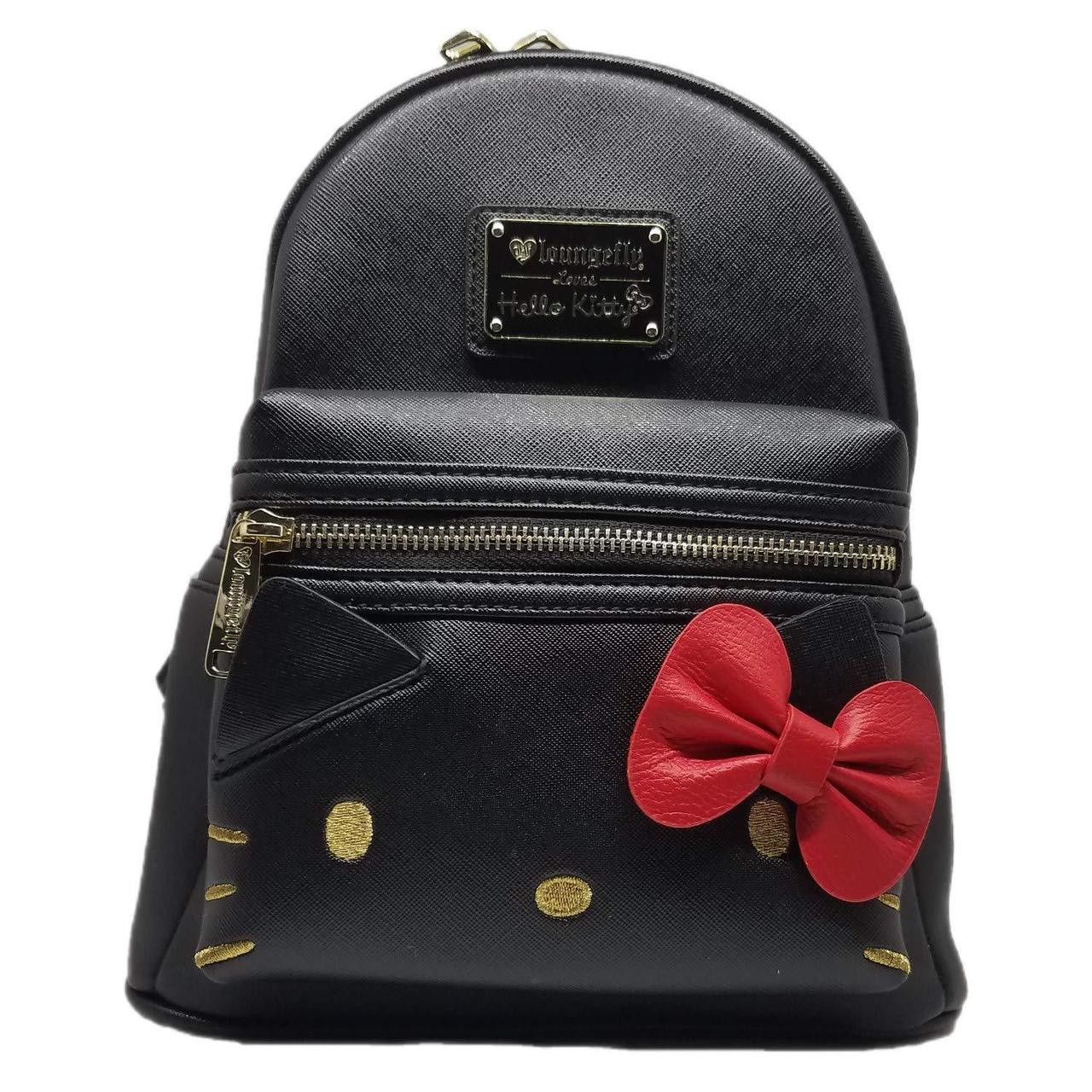 503375dc7 Loungefly Sanrio Hello Kitty Bow Cute Black Mini Faux Leather Backpack  SANBK0344 - Fearless Apparel