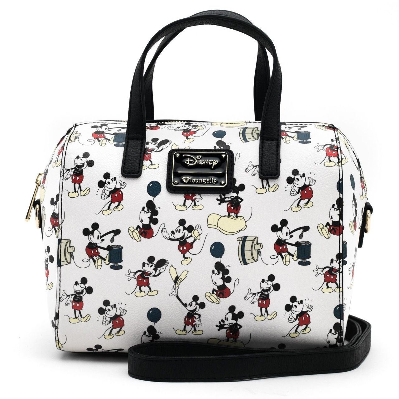 Loungefly Disney Mickey Mouse Poses Faux Leather Duffel Tote Bag Purse  WDTB1415 54b7211bc7530