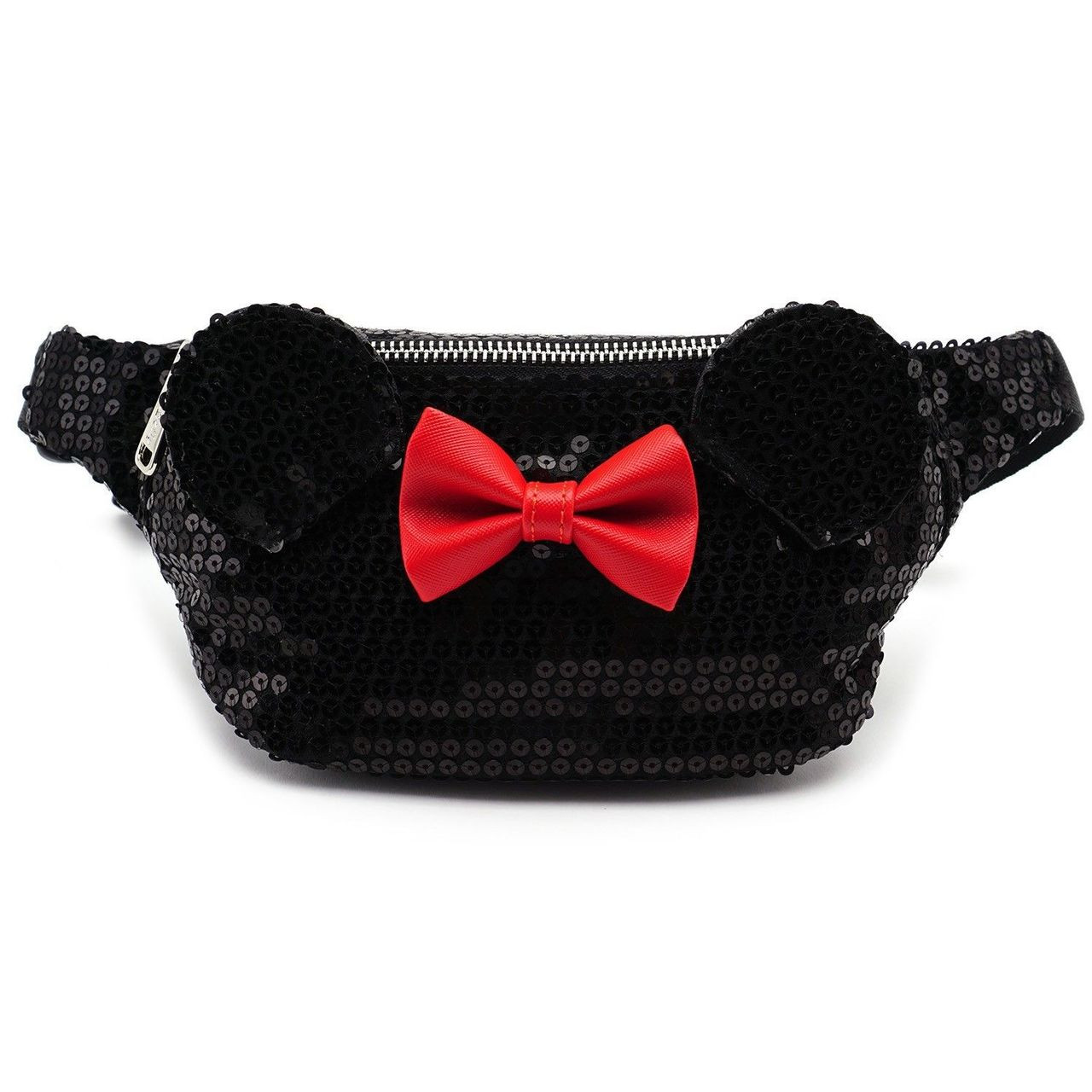 Loungefly Disney Minnie Mouse Sequins Faux Leather Fanny Pack Purse  WDTB1416 - Fearless Apparel 72876e3dcc739