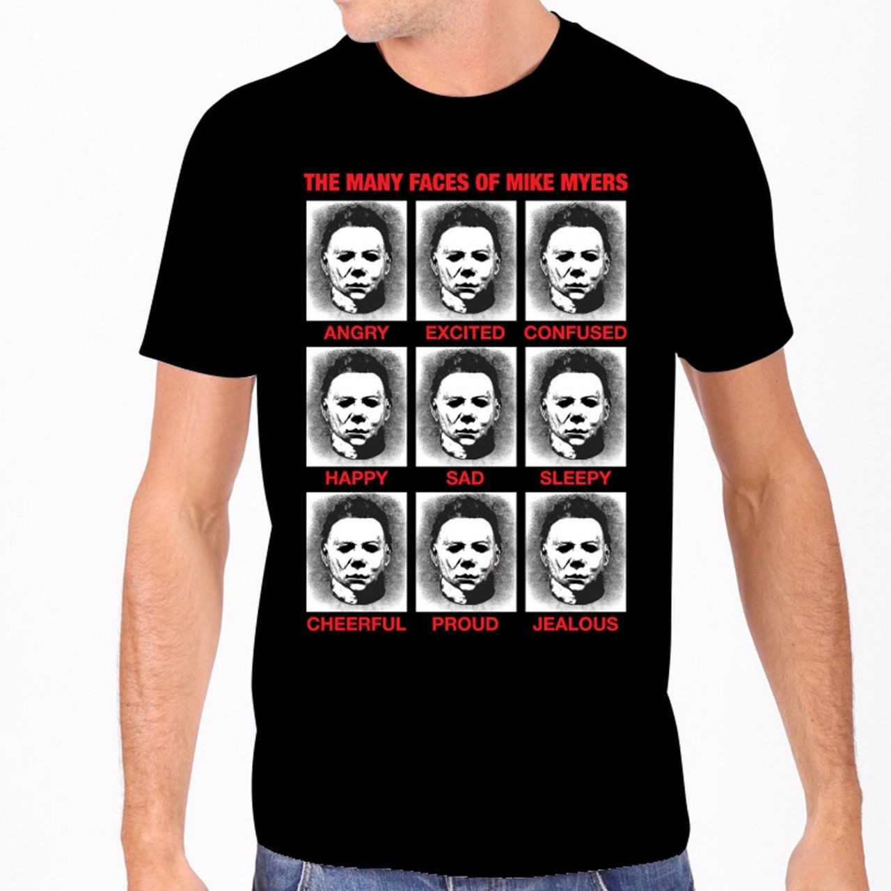 335df01bb Rock Rebel Universal Monsters Moods Faces of Mike Myers T Shirt  UH215-MOMIKE - Fearless Apparel