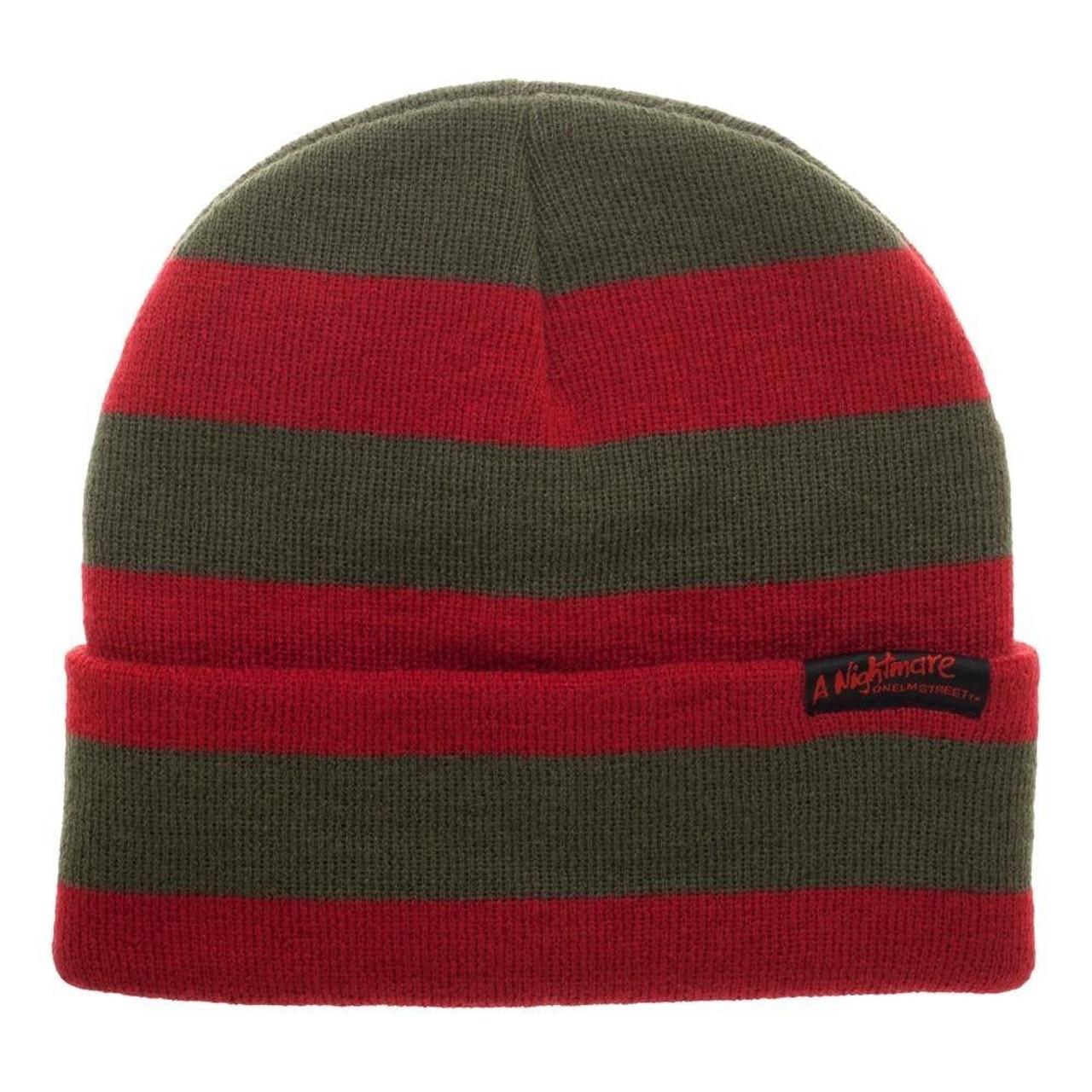 299133a2ec1772 Bioworld Nightmare on Elm Street Freddy Sweater Knit Beanie Cap Hat  KC6YIWNOE - Fearless Apparel