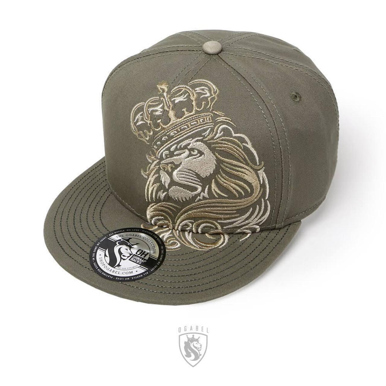 e0e6d543a4ff6 OG Abel Ogabel Crowned Lion King Urban Tattoo Forest Snapback Cap Hat  HTSB005-F