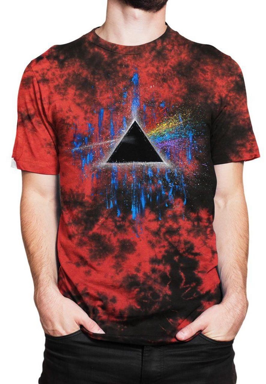 bd23c0c4ba6a6c GDA Get Down Art Dark Side of the Moon Pink Floyd Men's Tee Shirt Tie Dye