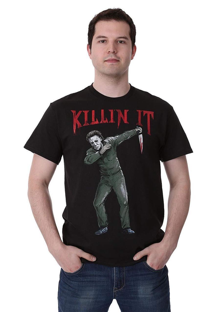 107db586 Michael Myers Dab Dabbing Killin It Halloween Horror Scary Movie T Shirt  38-24
