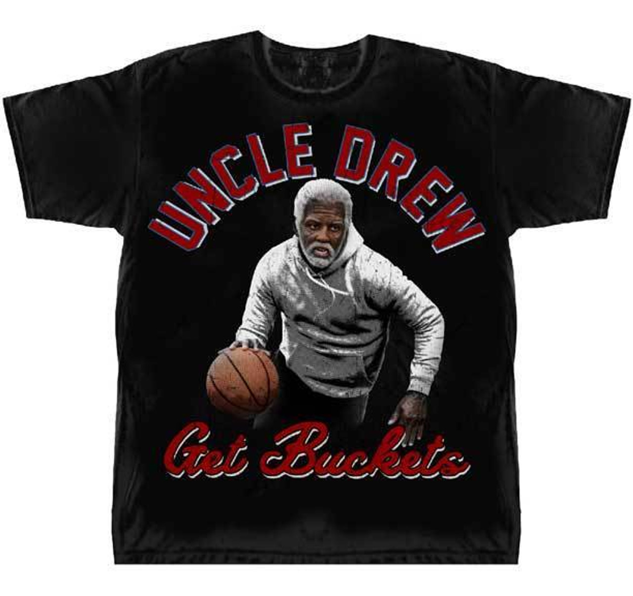 984bb7ef Uncle Drew Get Buckets Kyrie Irving Sports Comedy Basketball Movie T Shirt  75-1