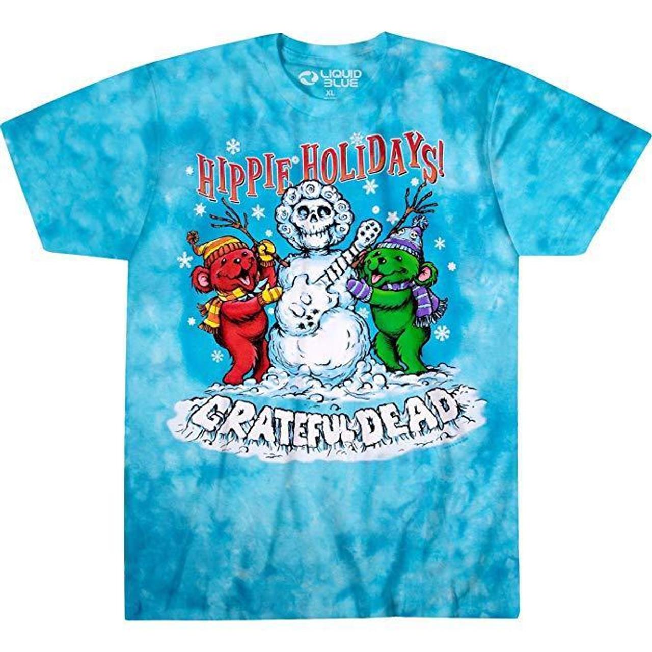 Grateful Dead Hippie Holiday Snowman Bears Classic Rock Music Band T