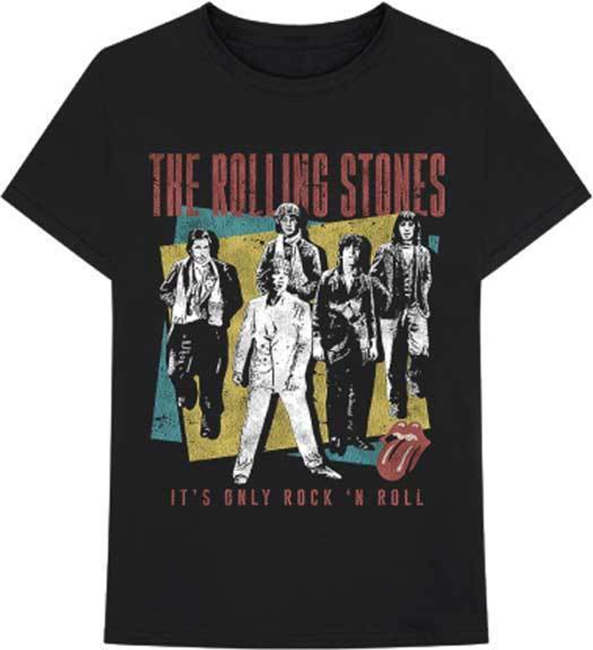 872a93186 The Rolling Stones Its Only Rock and Roll Classic Music Band T Shirt  31270912 - Fearless Apparel