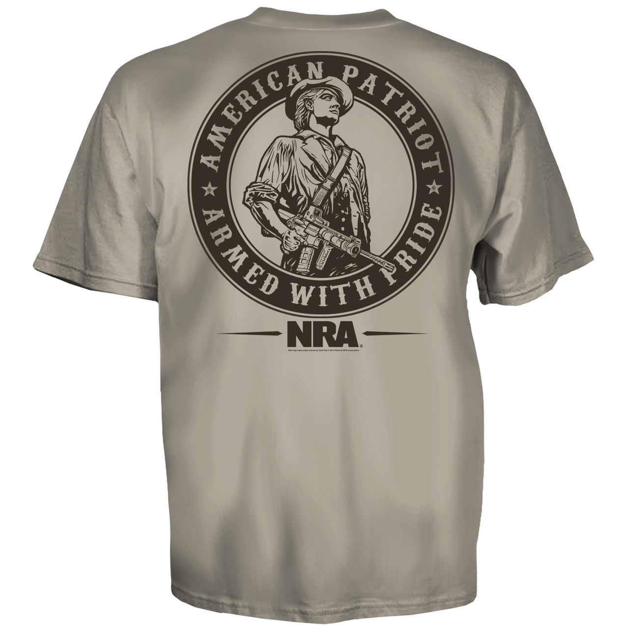 917e9fcc NRA Minute Man American Patriot Armed Pride National Rifle Association T  Shirt - Fearless Apparel